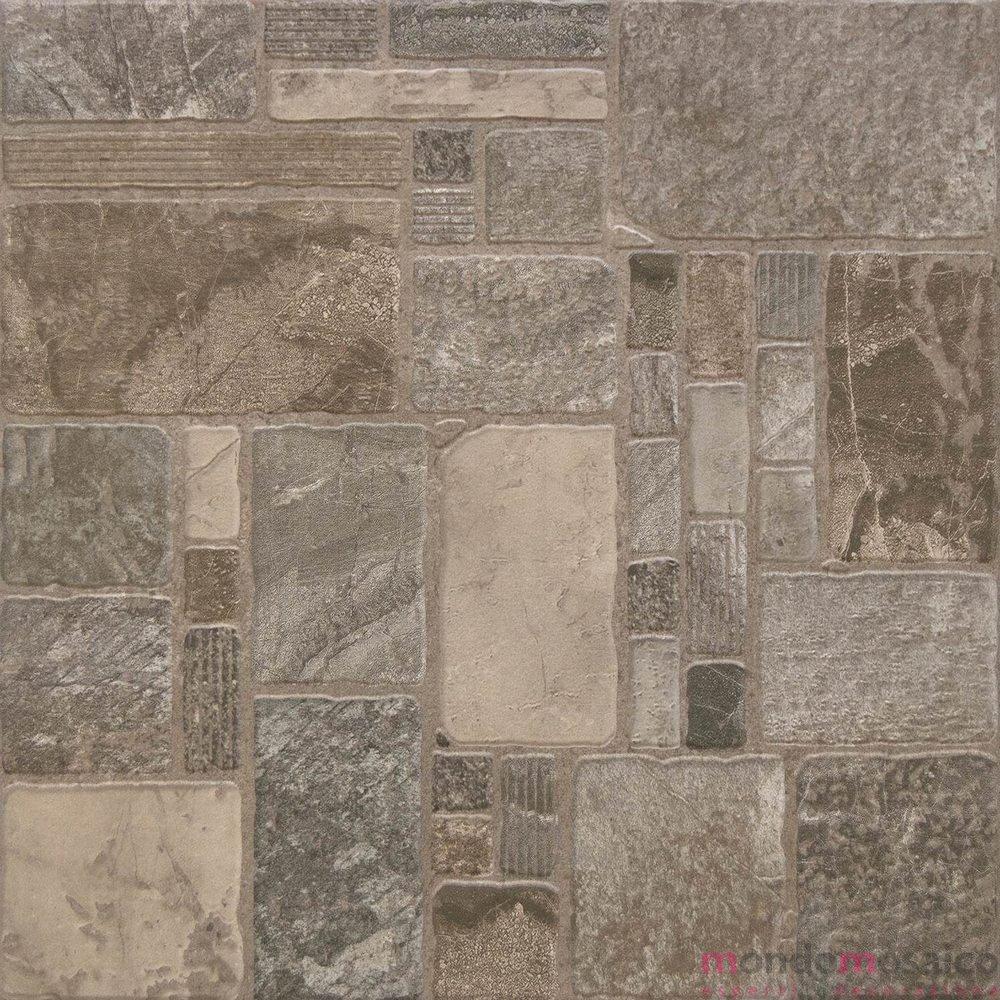 Esmeralda grigia 45 45 antiscivolo mondo mosaico italia - Pavimento exterior antideslizante ...