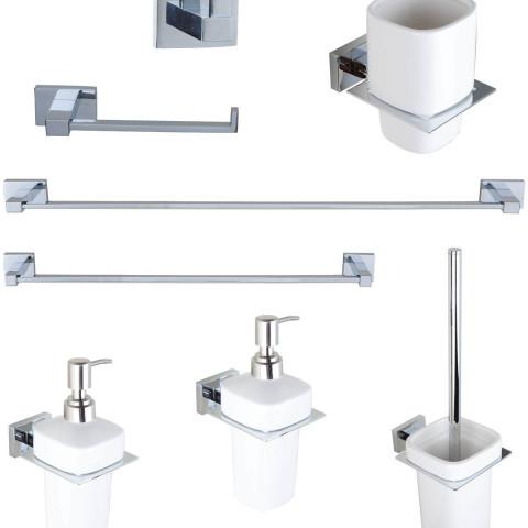 Set completo accessori bagno da 8 pz miriam mondo for Accessori bagno online economici