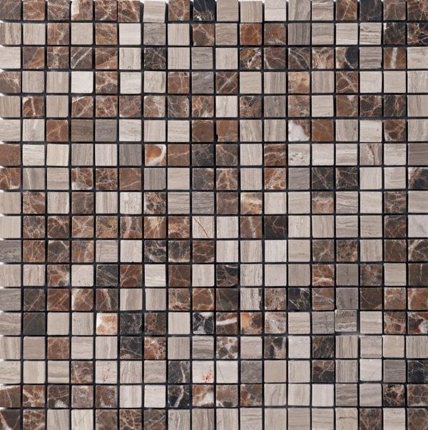 Micro mosaico in pietra e marmo marrone