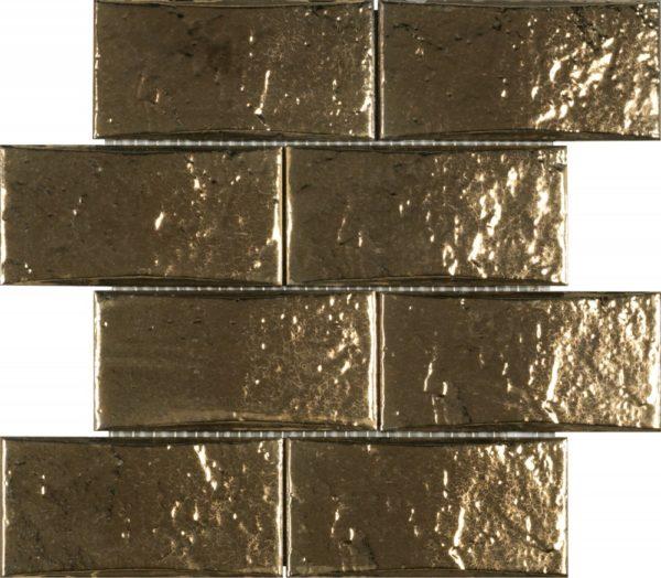 Mosaico Islam rettangolare oro