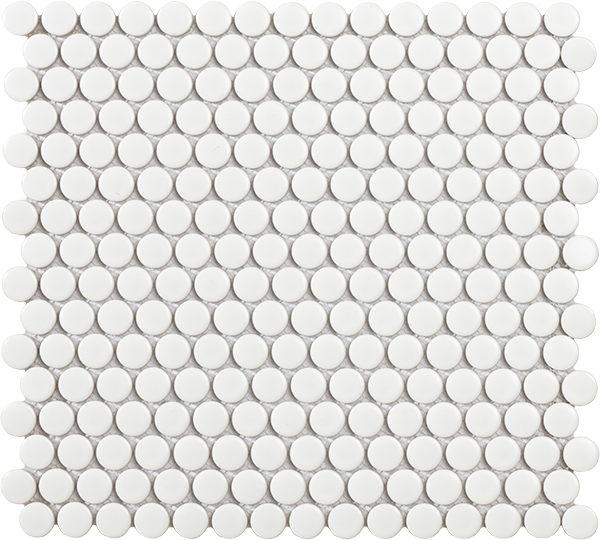 Mosaico bolle in porcellana smaltata bianco