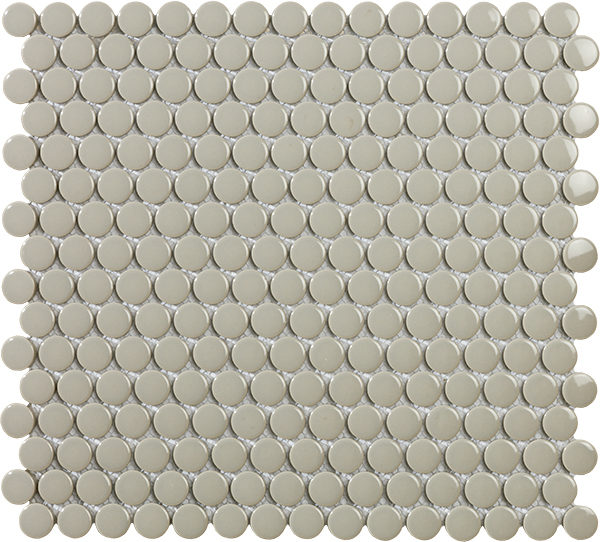 Mosaico bolle in porcellana smaltata grigio lucido