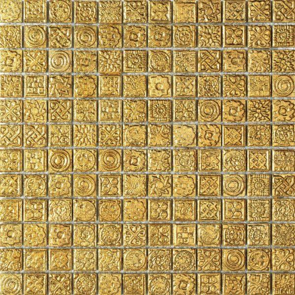 Mosaico effetto oro