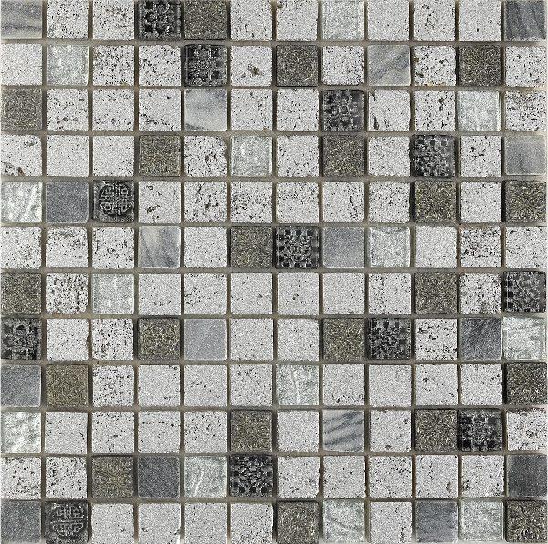 Mosaico grigio stile impero