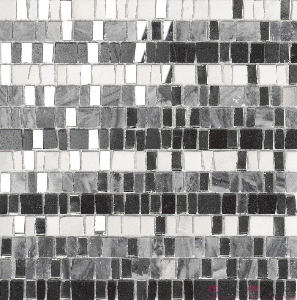 Il Mosaico E Gli Specchi.Mosaico In Pietra E Pezzi Di Specchi Black