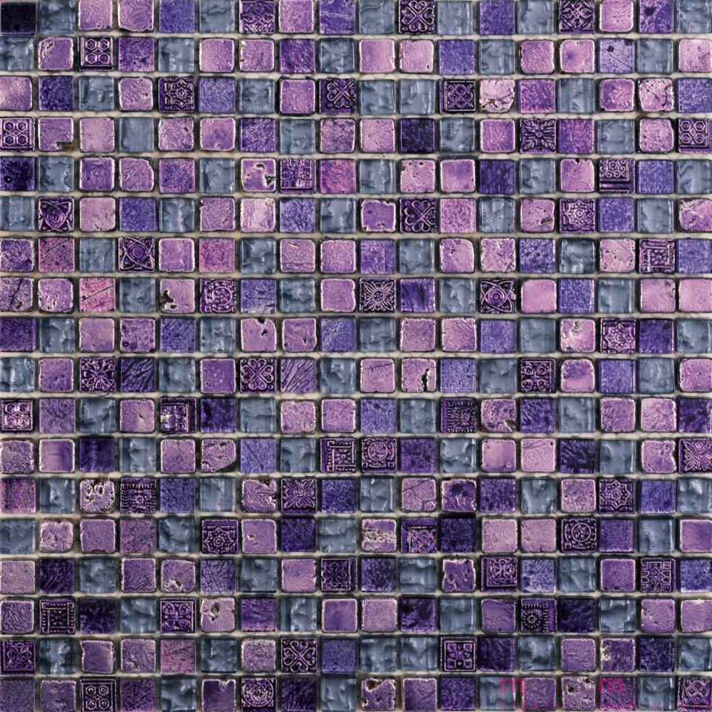 Piastrelle Bagno Mosaico Viola mosaico in pietra e vetro viola