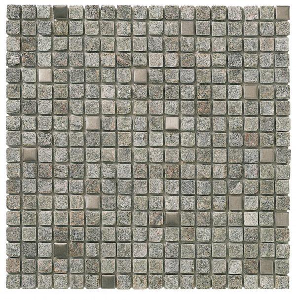 Mosaico in pietra grigio