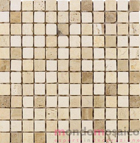 Mosaico in travertino beige