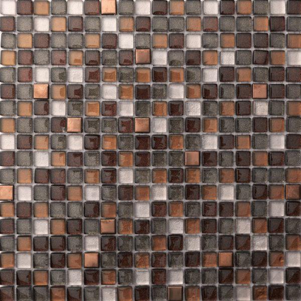 Mosaico in vetro e alluminio