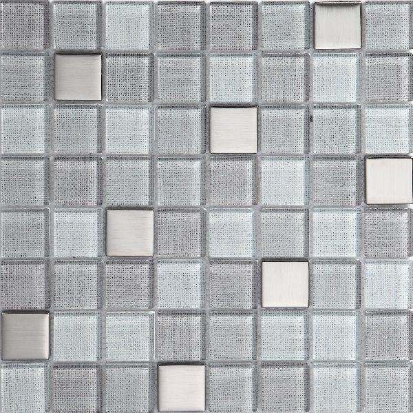 Mosaico in vetro grigio