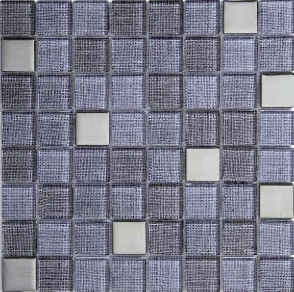 Mosaico in vetro grigio scuro