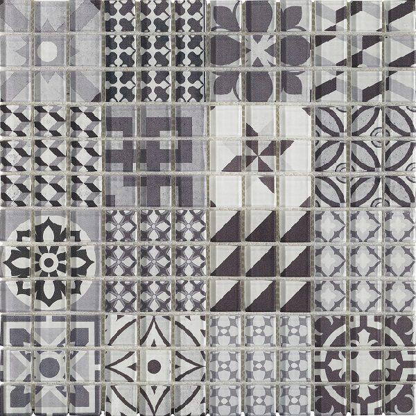 Mosaico mvetroso multidecorato minimalista