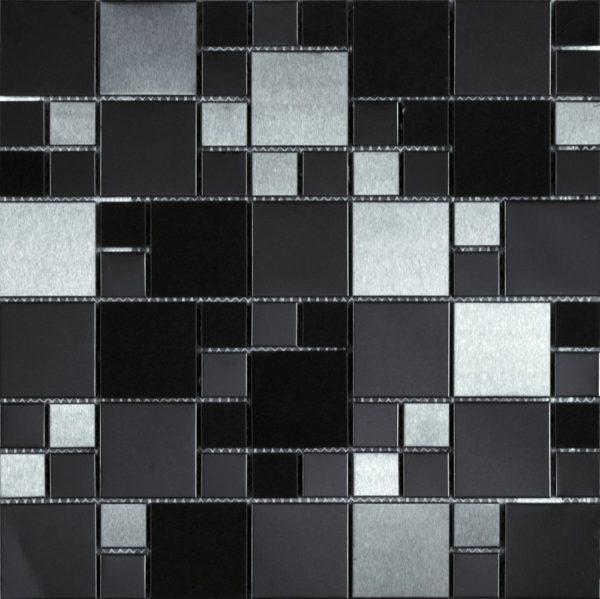 Mosaico nero lucido opaco varie dimensioni