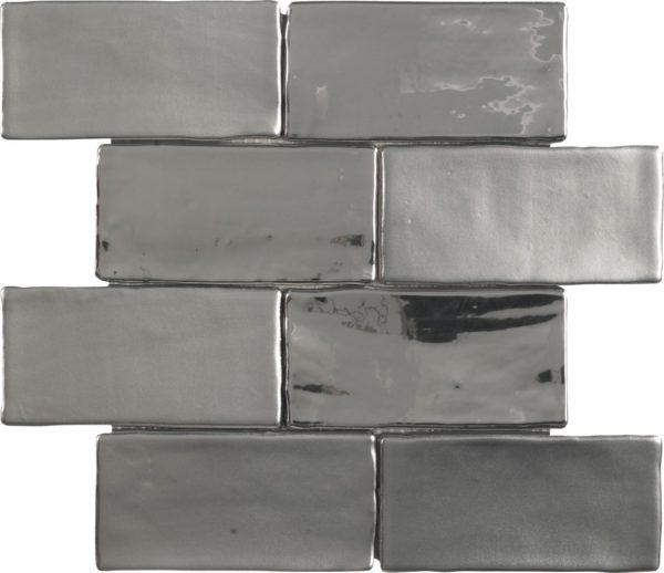 Mosaico stile retrò argento