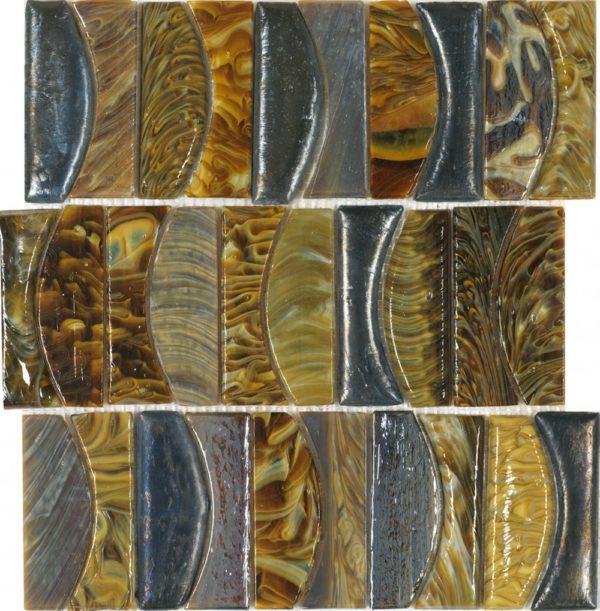 Mosaico vetroso con diverse tonalità effetto marmo lucido