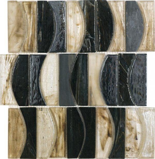 Mosaico vetroso con diverse tonalità effetto marmo lucidojpg