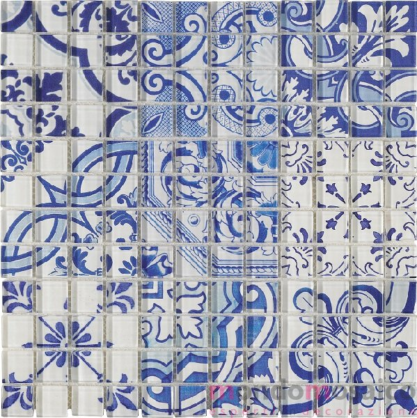 Mosaico vetroso multidecorato faenza 1