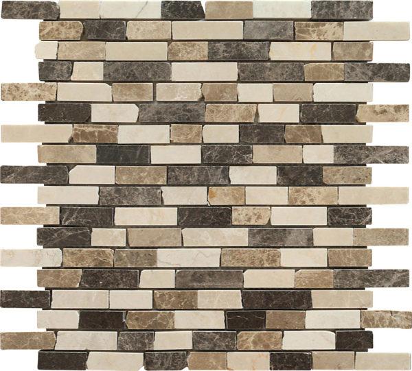 mosaico a listelli marrone