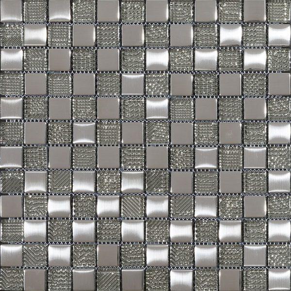 mosaico argento grigio