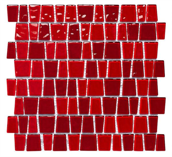 mosaico rosso listello
