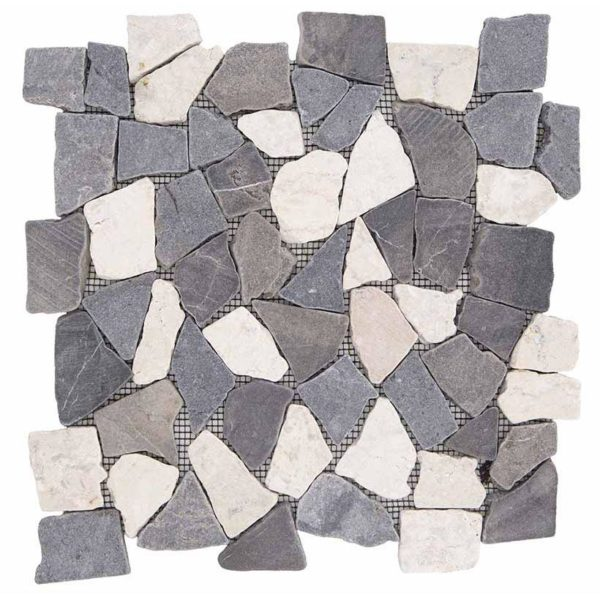 palladiana in pietra grigia e bianca