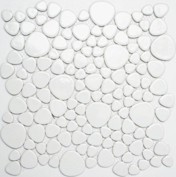 ciottoli bianchi lucido