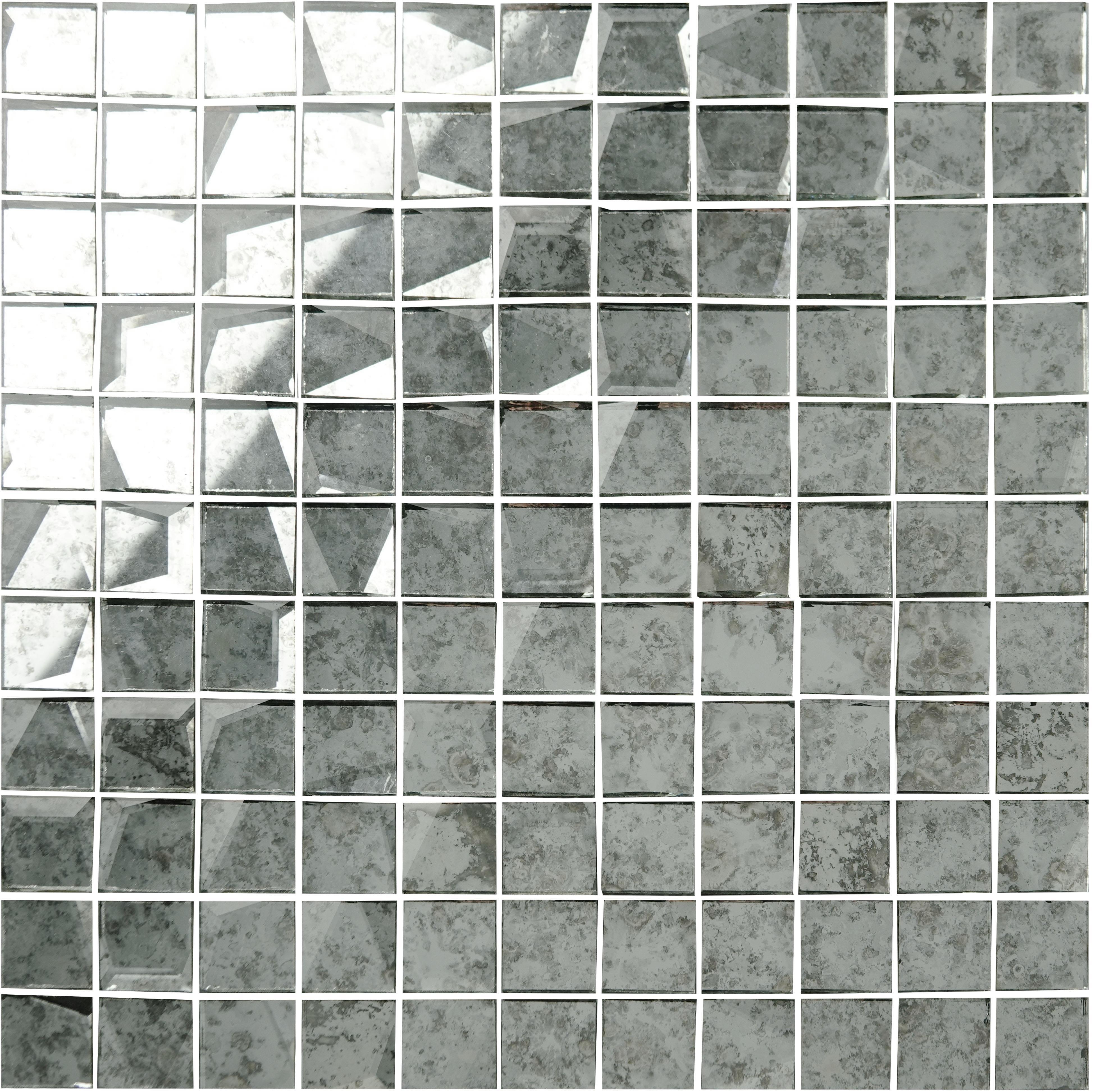 Piastrelle A Mosaico Per Bagno mosaico a specchio bianco anticato 24