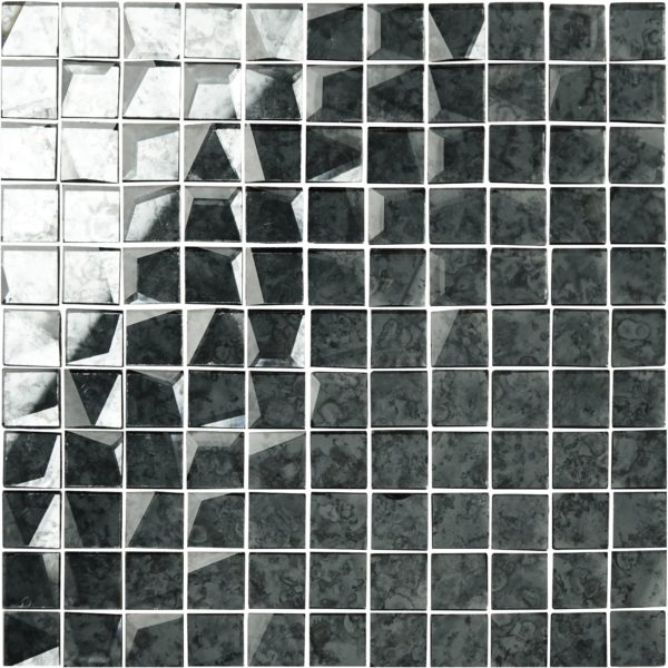 mosaico a specchio anticato grigio 24×24