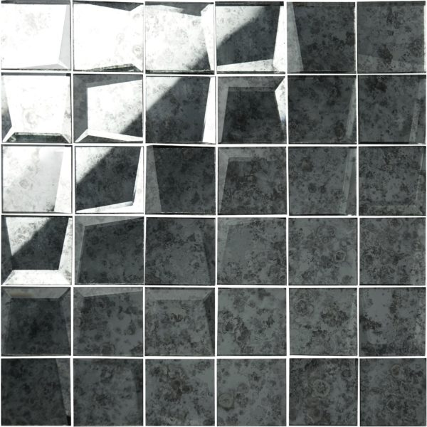mosaico a specchio anticato grigio 5×5