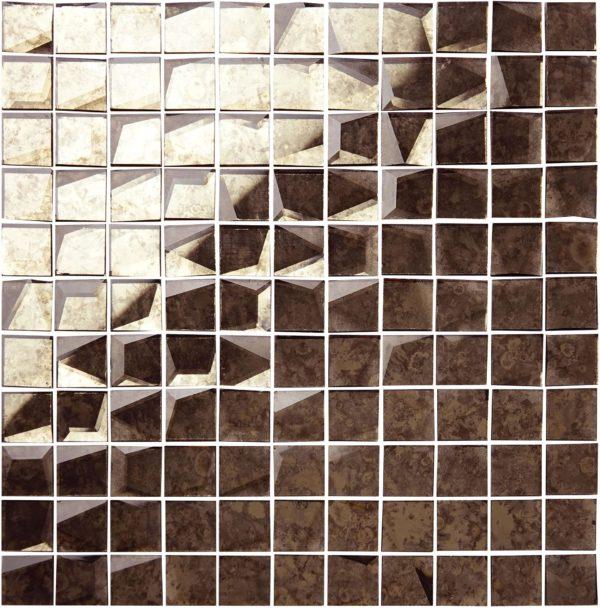 mosaico a speccho antcato bronzato 25×25