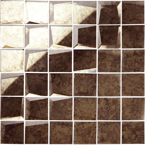 mosaico a speccho antcato bronzato 5×5