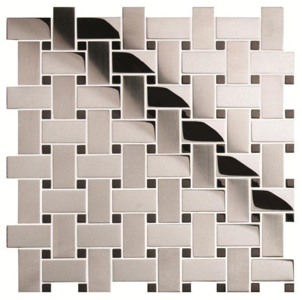 mosaico intrecciato in acciaio
