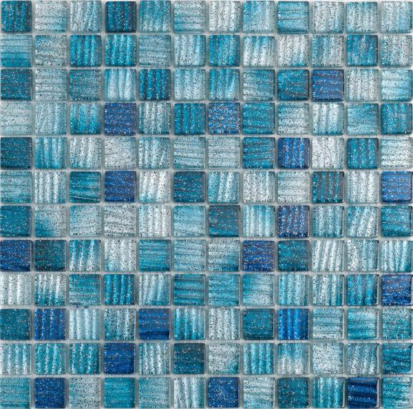 mosaico mix blu glitterato