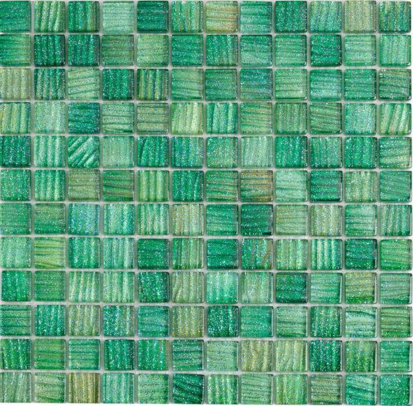mosaico mix verde glitterato