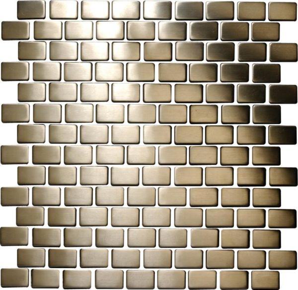 mosaico muretto acciaio