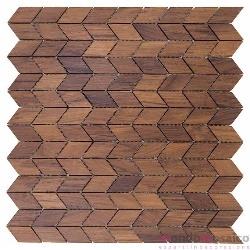 Mosaico Di Legno.Mosaico Legno Tessere Rettangolari Forma Scala