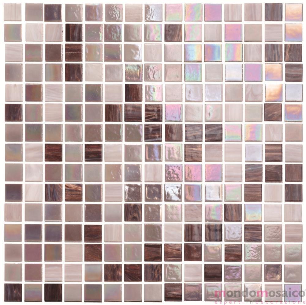Bagno Rosa E Nero mosaico vetroso rosa antico iridescente