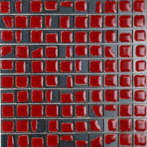 mosaico macchia corallo rosso
