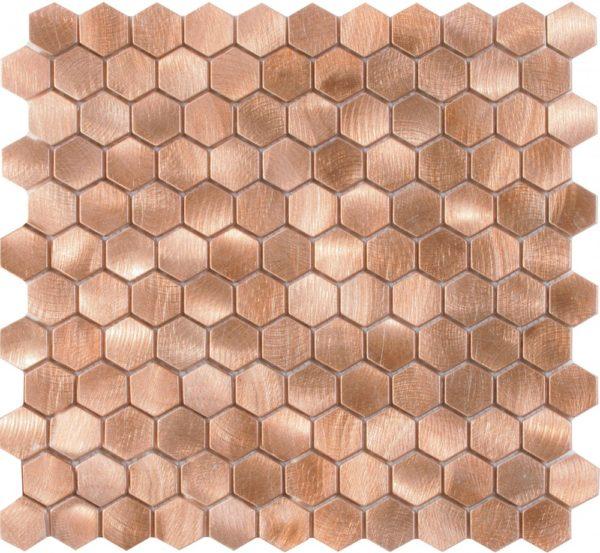 mosaico esagonale graffiato