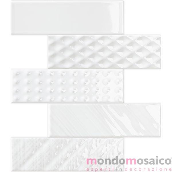 mosaico bianco gres