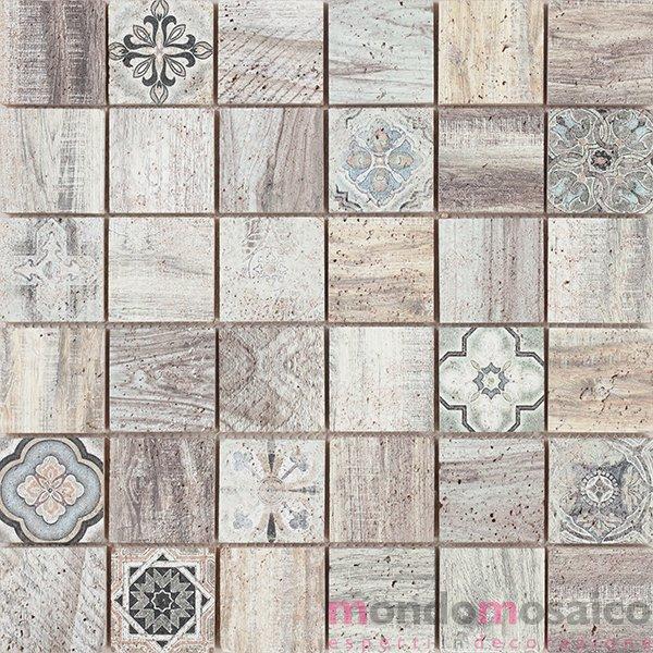 mosaico effetto legno